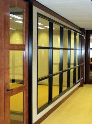 anodized aluminum door frame and sidelight